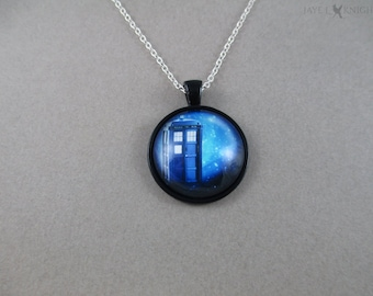 CLEARANCE - Doctor Who Tardis Pendant Necklace