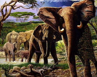 The Herd // Giclee on Canvas