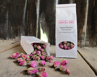 Organic Dried Rose Buds (Rosa damascena) - from the Bulgarian Rose Valley