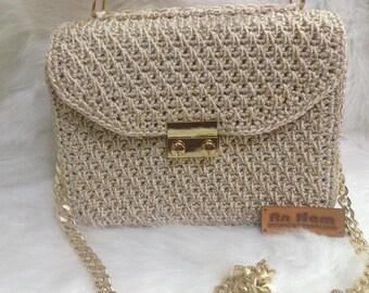 Crocheted bag-Handmade bag-crochet small bag-bag-bag-box bag - MTmini 02