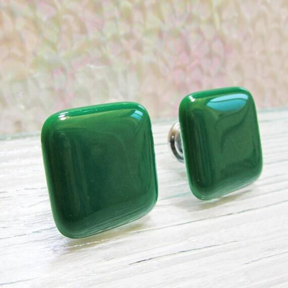 Fused Glass Dresser Drawer Knobs Jade Green Cabinet Knobs