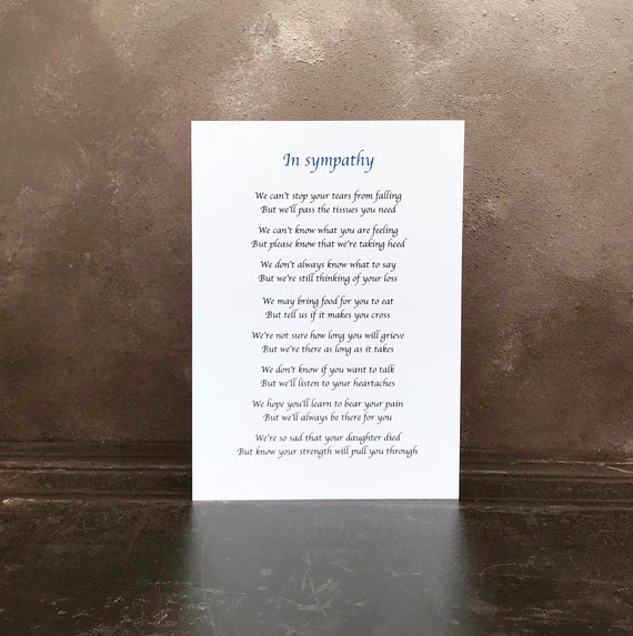 Beautiful personalised sympathy poem