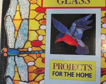 Stained Glass Projects for the home 80 page pattern  how to softback book good condition