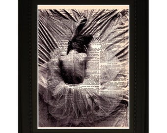 """Emotionless"""".Dictionary Art Print. Vintage Upcycled Antique Book Page. Fits 8""""x10"""" frame"""