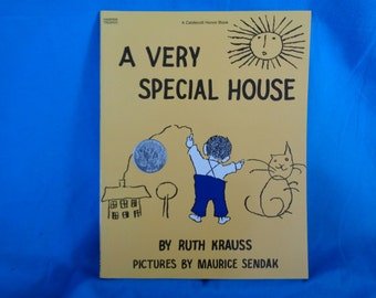 vintage 1990 A Very Special House book by Ruth Krauss
