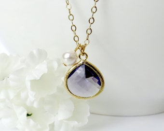 Purple Gemstone Necklace, February Necklace, Amethyst Necklace, Valentines Day, Gift for Wife, Bridesmaid Necklace, Gift for Best Friend