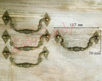 Set of 10 droopy handle / Drawer Dresser sideboard Cabinet / iron /#120005