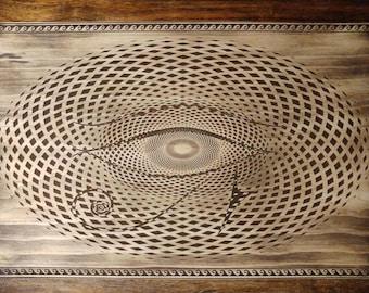 Eye of Horus//wall hang//sacred geometry//wood art