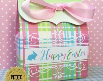 Easter candy box etsy easter favor boxes easter candy favor box easter treat boxes easter plaid negle Images