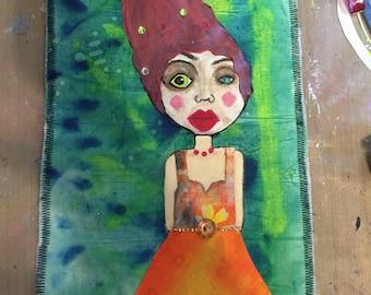 Handmade Odd Girl Art Quilt Odd Girls Rule