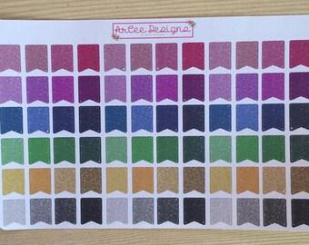 Planner Sticker- Mini Flags (Glitter): made for the Happy planner, Erin Condren, Filofax, Kikki. K and more.