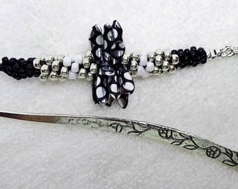 Bookmark with Beautiful Beads and a Turtle Charm