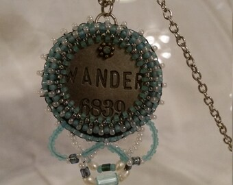 Wander Bead Embroidery Necklace - 01WN45