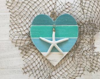 Beach Decor Heart Beach Wall Art