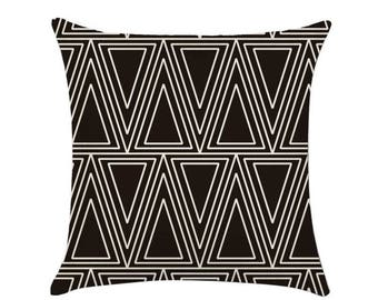 Geometry Triangle Pattern Comfortable Linen Pillow Cover / cushion shell / decorative pillow