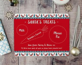 Personalised  Placemat For Santa's Treats - Christmas Placemat - Santa's Placemat - Placemat for Santa