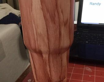Wood grain tumblers