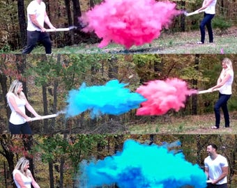 "24"" SMOKE POWDER CANNON ™ Ships Same Day! Gender Reveal Smoke Powder Cannons! New Gender Reveal Idea!"
