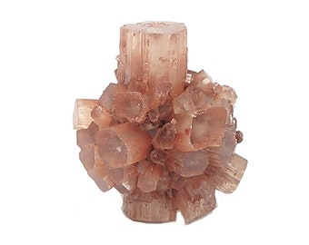Aragonite Cyclic Twin Starburst Crystal Cluster Raw earth crystal jewelry focal Mineral Specimen Orange Brown, Ankh Crystal , Sputnik Stone