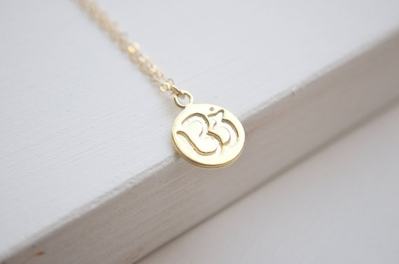 OM Necklace   Gold OR Silver Necklace   Namaste Yoga Jewelry
