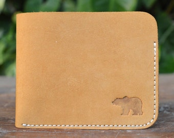 Men's Slim Nubuck Leather Wallet - Cub