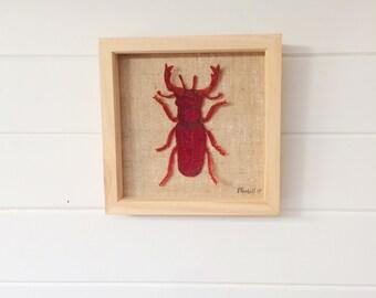 Stag beetle decor