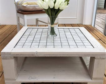 Handmade pallet coffee table,  farmhouse style rustic table, recycled furniture