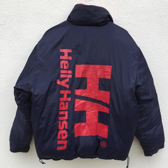 On Sale Vintage Helly Hansen Spell out Big Logo Hoodie Jacket Rare 7iXYftB