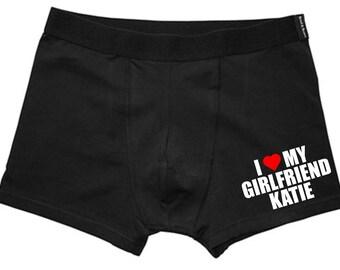 Personalised Valentines Mens Boxer Shorts, Husband Gift, Valentines Gift, Funny Underwear, Novelty Gift, Boyfriend Gift, Mens Boxer Shorts