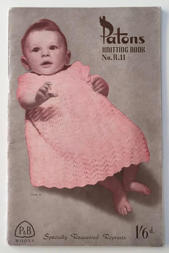 1940s Patons Knitting Pattern Book Nor11 20 Beautiful Patterns