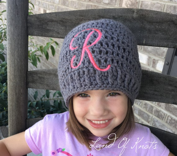 crochet hats , embroidered beanie, crochet hat, monogram hats, personalized  winter hats,