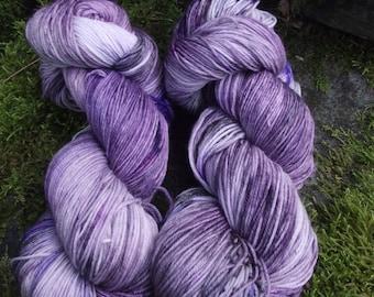 Handpainted sock yarn, fingering yarn, Superwash Merino Tencel Nylon, 100 grams-Nebula