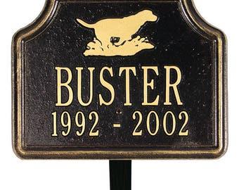 Retriever Pet Memorial Marker