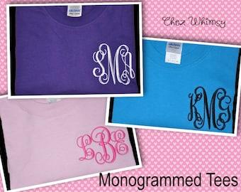 Monogrammed Shirt - Monogram Shirt - Monogram T-shirt - Monogram Tshirt - Personalized Shirt - Monogram Tee - Monogrammed Tee