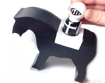 the black & white collection: monochrome castle horse only