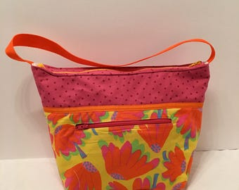 "LIP26- Lunch Bag: ""The Wow Factor"" washable insulated lunch bag with zippered front pocket and zippered top closure."