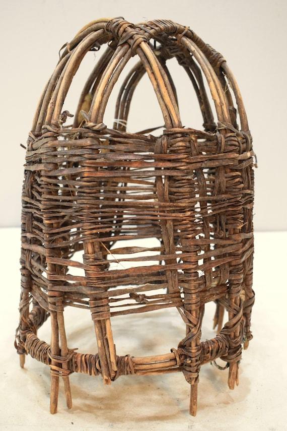 African Basket Ethiopian Beast Burden Basket Borana Tribe Handmade Tribal Reeds  Basket