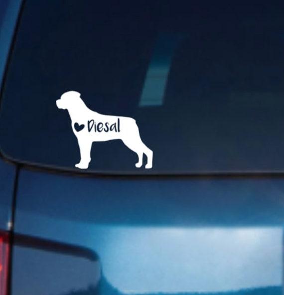 Rottweiler car decal rottweiler decal rottweiler stickers rottweiler vinyl decal rottweiler