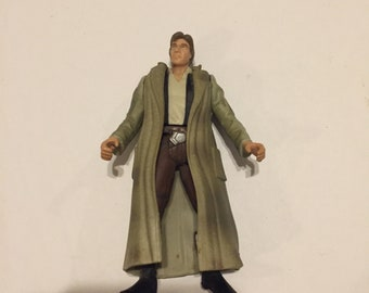 1995 Power of the Force Star Wars Vintage Hasbro Han Solo with Trench Coat - A New Hope Star Wars Loose Figure