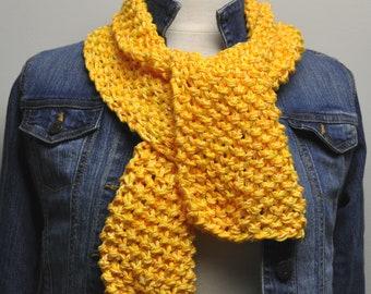 Knit Cotton Scarf in Daffodil
