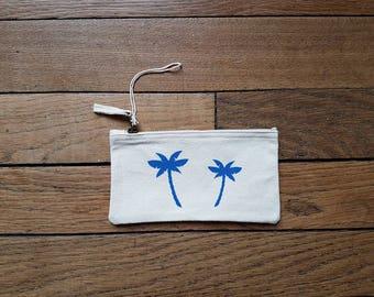 Zipper pouch Palm (size S)