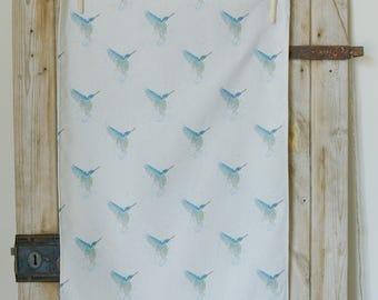 Kingfisher tea towel