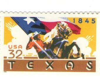 Unused 1995 - Texas Statehood - Vintage Postage Stamps Number 2968