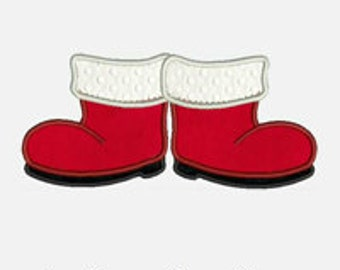 Santa Boots...Embroidery Applique Design...Three sizes for multiple hoops...Item1081...INSTANT DOWNLOAD