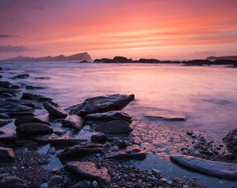 After sunset on The Dingle Peninsula, County Kerry, Ireland