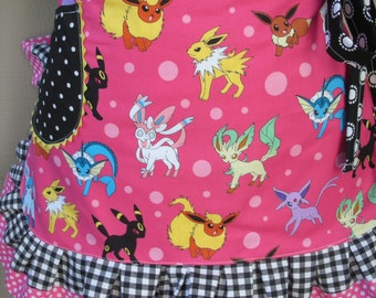 Aprons Pokeman Womens Aprons Pink Etsy Aprons Pokemon Aprons Nintendo Aprons Annies Attic Aprons Pink Aprons Handmade Aprons Waist Aprons