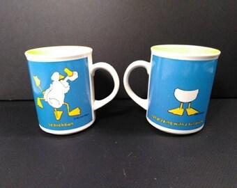 Vintage Enesco Duck Tales Mugs by John Barton