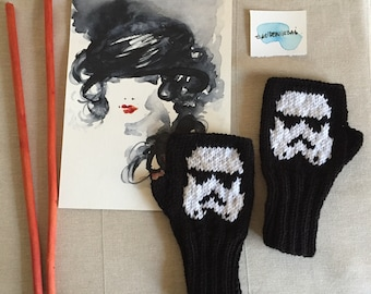 Star Wars Glove, Stormtrooper Perler Bead, Fingerless Gloves, Characters Fuse Bead, Arm Warmers, Boys Girls Gift, Father's Day Gift, Movie