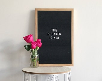 "FREE SHIPPING to Canada/USA! Handcrafted - Premium black felt letterboard with 360 interchangeable characters - 12"" x 18"""