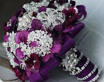 BROOCH BOUQUET PURPLE